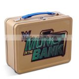Factory supply cheap coin bank metal tin box money tin suitcase