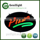 2016 commercial oval acrylic wholesale cheap PIZZA led signs