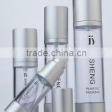 15/30/50/100ml wholesale plastic aluminium bottle, airless pump bottle for cosmetic packaging