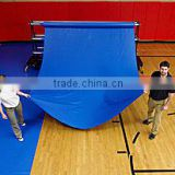 40' x 60' 18 oz PVC Vinyl Gym Floor Tarp Cover ,GYM Tarps Cover Blue Winter Guard Cover
