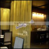 anping factory decorative chain curtain using by aluminium chain in salon, restaurant, hall etc.