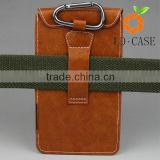 universal mobile phone case, leather pouch with key ring, high quality PU small bag for cellphone