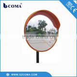 Convex glass mirror for road safety