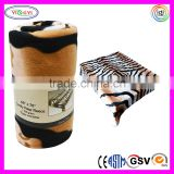 E051 Tiger Print Comfy Polar Fleece Throw Blanket Bigger Soft Fleece Tiger Pattern Blanket