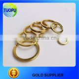 2016 hot sale brass split ring,Round Split,Sliver ring for key