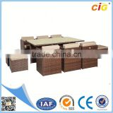 IAF Approved Modern plastic bamboo outdoor furniture
