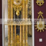 Latest Design Double Layer Grandfather Antique Clock, 24K Gold Copper Clock, Onyx Tube Marble Base Floor Clock