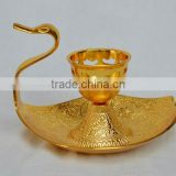 Duck shape gold plated candle stick holder