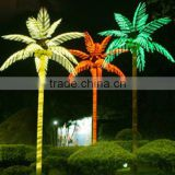 Home garden decorative 750cm Height outdoor artificial green flashing LED solar lighted up coconut palm trees EDS06 1402