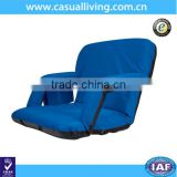 Deluxe Folding Stadium Seat Reclining Bleacher Chair with Adjustable Back and Cup Holder