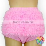 Solid Pink Diaper Covers 3 Sizes Newborn Baby Bloomers High Quality Chiffon Ruffle Diaper Cover