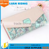 Envelope Women Wallets 5 Colors Flowers Printing 3Fold Wallet Long Ladies wallets Clutch Coin Purse Card Holder