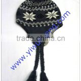 2014 fashion European and American Hand Knitted Winter Wool Hat,adult/girls beautiful wool hat