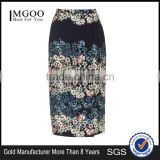 Cheap Price Knitted Flowers Border Wrap Midi Skirts Floral Long Bodycon Skirts Stretch Skirts Wholesale