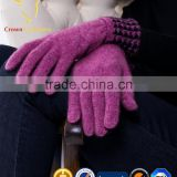 100% mongolian cashmere gloves womens cashmere knitted gloves