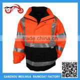Custom ANSI 3-in-1 Waterproof Winter Constructon Safety Reflective Jacket 3M