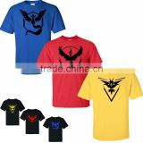 Custom Blank Cotton Pokemon Go T Shirt wholesale printing Pokemon t shirt for women men summer tops