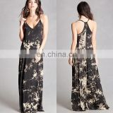 New Fashion Racerback Tie-Dye Maxi Dress for Woman