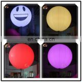 Attractive Inflatable LED tripod ball light,interactive stand balls for concert,event led pole ballon decoration