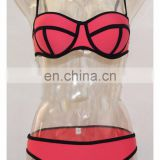 Women Sexy Bikini Set Bandeau Triangle Push-Up Bra Swimsuit Beachwear