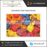 Handmade Cotton Monkey Fist Keychain from Well-Known Supplier