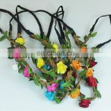 Flower Rose Party Wedding Synthetic Leather Headband