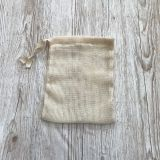 image 0  image 1 Organic Cotton Mesh Produce Bag. Reusable. Zero Waste bags Eco Shopping Drawstring bag