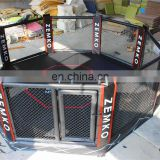 factory price UFC mma octagon cage with logo printing on floor