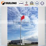 60M conical stainless steel flag pole for national flags / sports games / hotel / school
