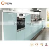New high gloss blue lacquer kitchen cabinet