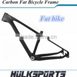 Fat Bike Carbon Frame With Forks 3K/UD Toray T1000 Black Bicycle Frame for Men and Women 190mm/197mm Frame