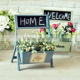 factory prices flower pot with blackboard, wooden planter Wooden Flower Holder with Blackboard