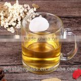 China Wholesale Drinking glassware Transparen beer glass with handle