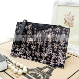 Flower printed leather handbags wholesale ladies tote bag direct buy china lady handbag