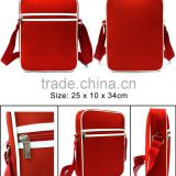 Hot sale Newest fashion high quality promotional Classic Mens Shoulder Bag Red Microfiber
