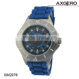 Silicone strape quartz men watch wholesale!! Blue fashion men rubber watch !!