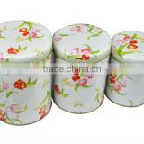 Dongguan wholesale mint High quality 3 sets metal tin case