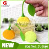 Heat resistant lemon shape food grade silicone tea strainer                                                                         Quality Choice