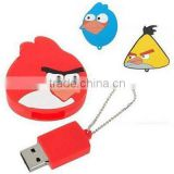 Lovely birds shape usb flash drive,custom logo usb flash memory,animal character usb flash memory,PVC usb flash drive