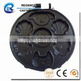 Die Casting for Disk, Made of Aluminum ADC12, Sand Blasting and Black Anodizing Surface Treatment