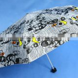 "Customized Strong Fashionable 21"" x 8ribs manuel-open 3-section aluminium mini umbrella super light weight"