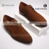 Factory direct high quality brown dress shoe leather formal shoes wholesale