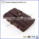 A6 Refillable Leather Notebook Custom 6 Ring Binder Journal Diary