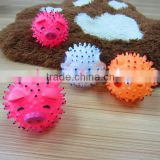 8.5cm pink spikey pig ball simple small pet toy new