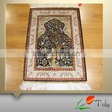Manufacturer Persian Silk Carpet In Stock Hand Knotted 4'x6' Persian Silk Rug For Prayer
