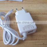 2016 new model micro usb v8 charger 5V 2A travel charger with 1.2m cable for mobile phone