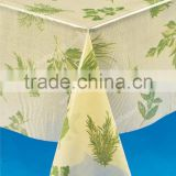 Clear PVC table cloth with printing in roll , clear vinyl printed , transparent PVC table cloth