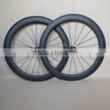 U Shape 60mm carbon wheels clincher basalt carbon bicycle wheelset F:20H R:24H