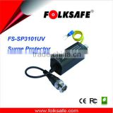 UTP Video Surge Protector, Surge Arrester, with BNC Connector and 16cm Mini-Coax pigtail lead,Folksafe FS-SP3101UV