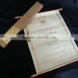 Custom Personalized Boxed Royal tube with scroll wedding invitation                                                                         Quality Choice